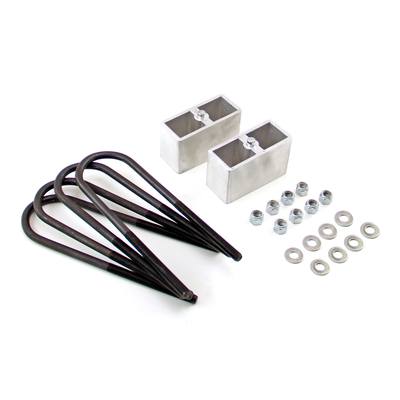 """3"""" Lift And Lowering Kit Aluminum Block With U-Bolts And Hardware"""
