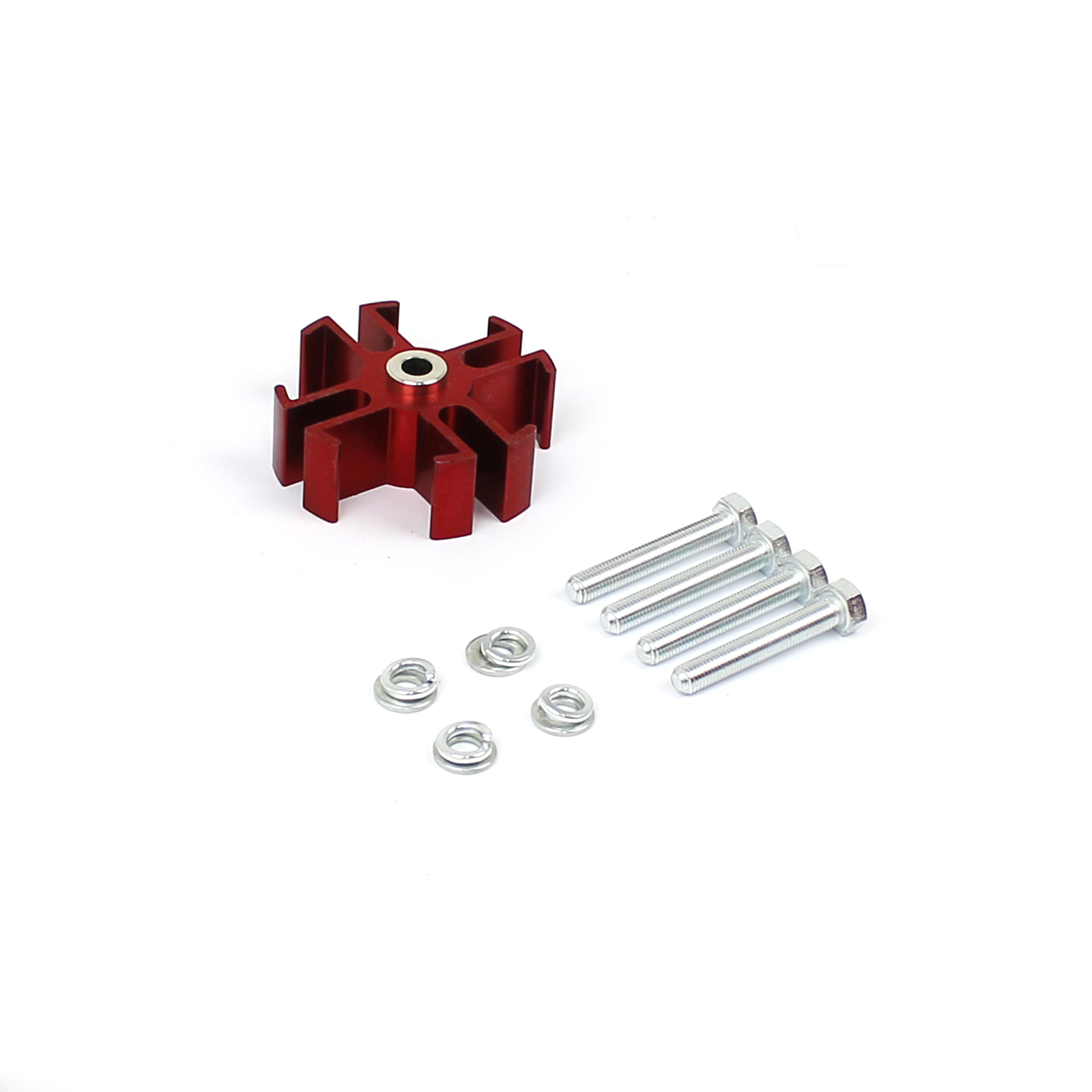 Universal 1 Aluminum Radiator Fan Spacer and Bolts