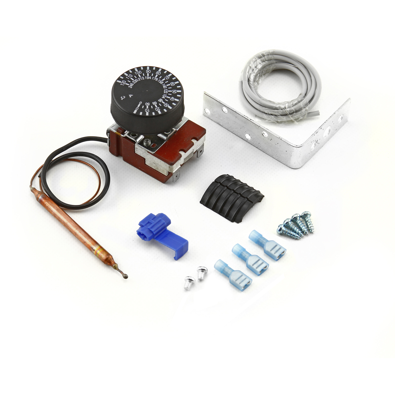Universal 12V 85-120 Celsius Deg Adjustable Electric Thermo Fan Switch Kit