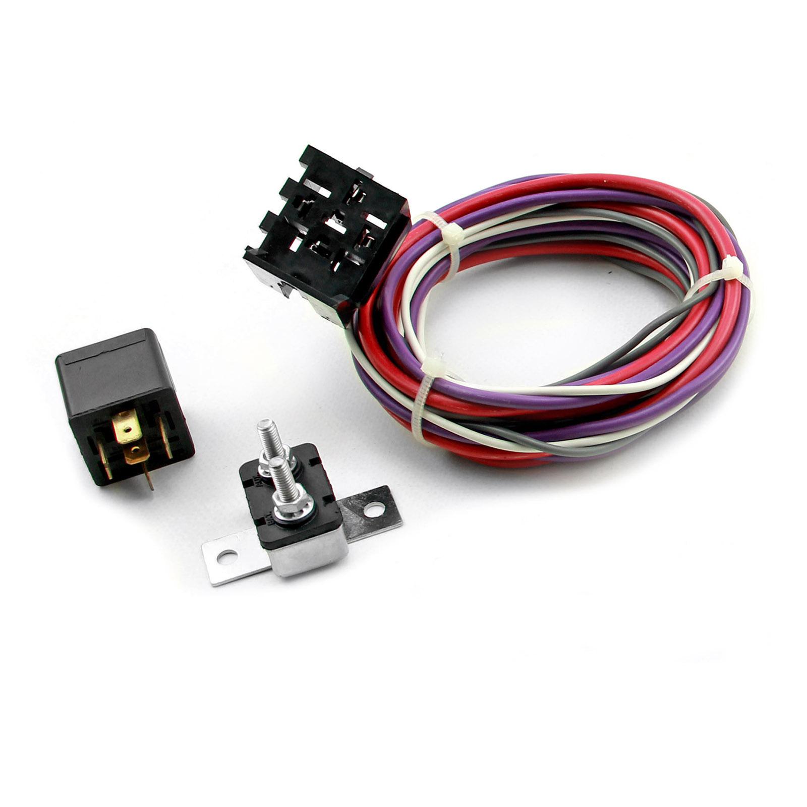 Electric Fan Wiring Harness Kit w/ Relay