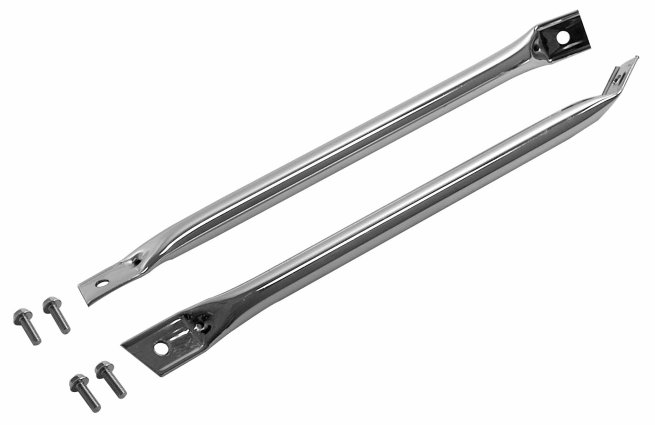 Chevy Camaro 1967-82 Firebird 1967-69 Radiator Support Bar Chrome