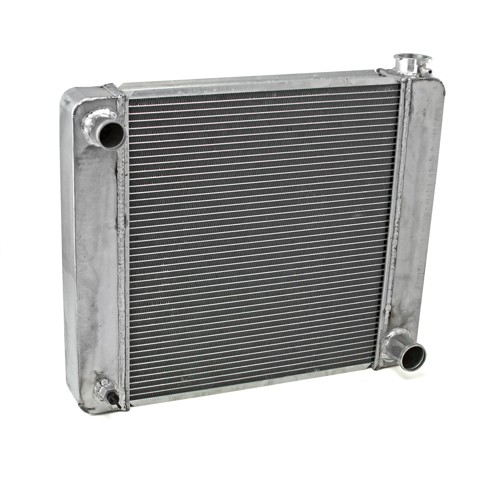 Gm Chevy 26x19x2.2 Aluminum Radiator (TL-BR O/Let) Satin (W D/Plug)