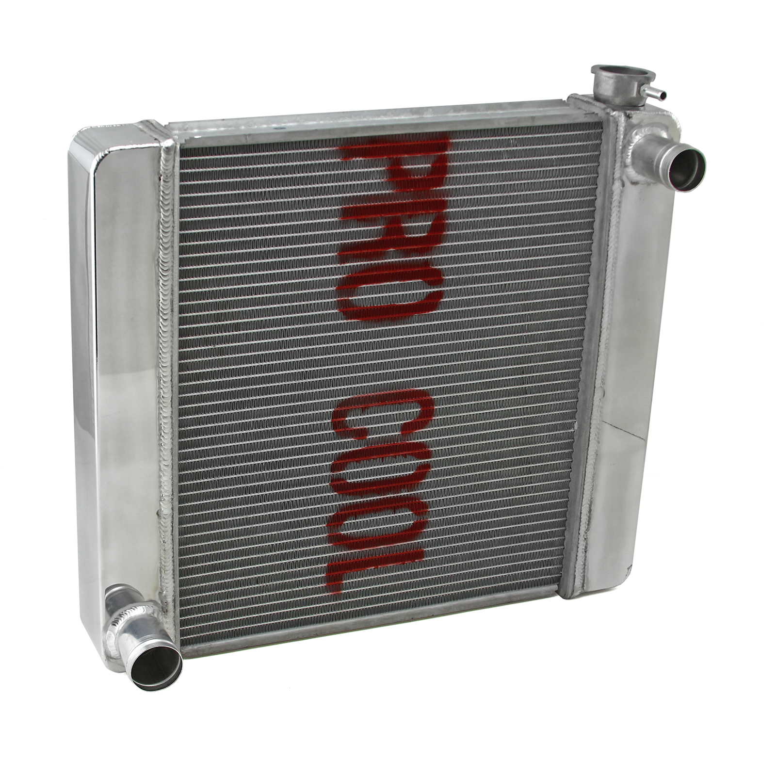 Ford Mopar 22x19x2.2 Aluminum Radiator (TR-BL O/Lets) Polished