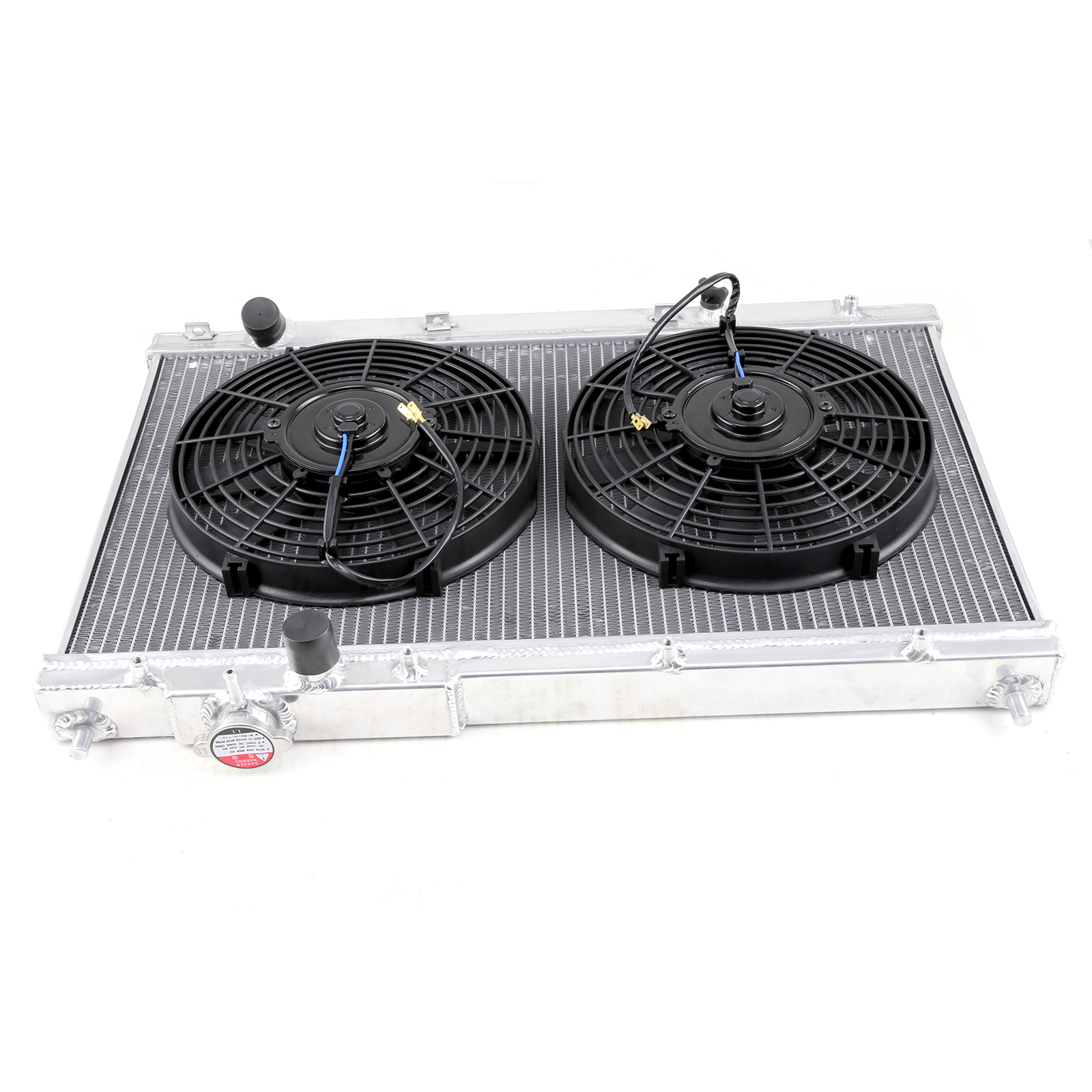 01-05 Civic Ex/Lx Em2 Es Mt 2-Row Radiator + 2 X 10 Electric Fan