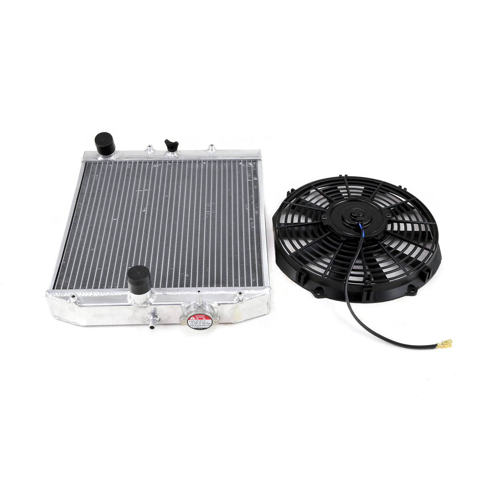 Civic/Del Sol/Integra Dc 2-Row Radiator + 12 Electric Fan