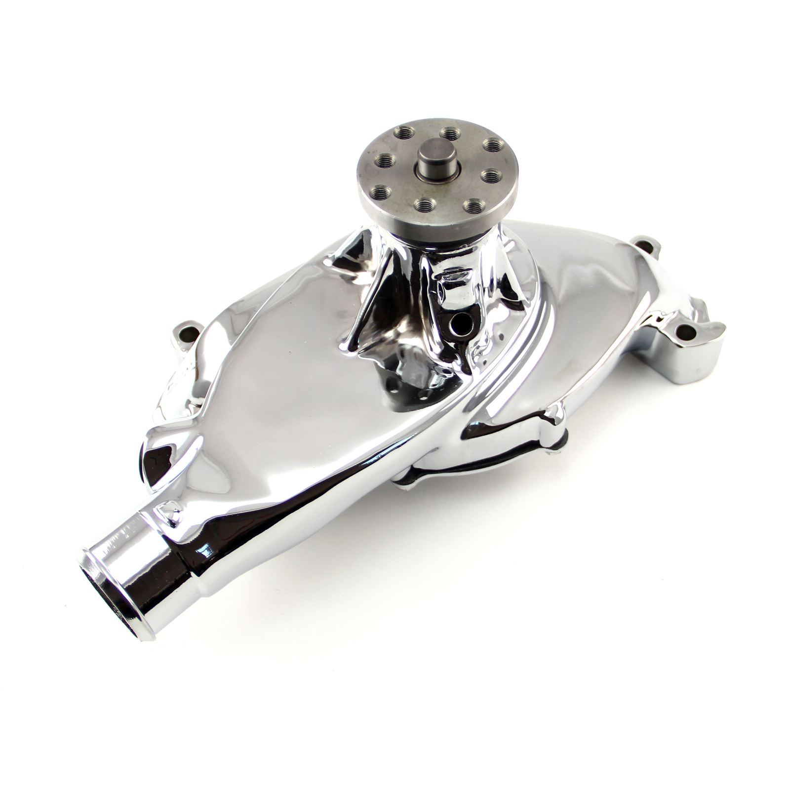 Chevy BBC 454 High Volume Aluminum Short Water Pump Chrome