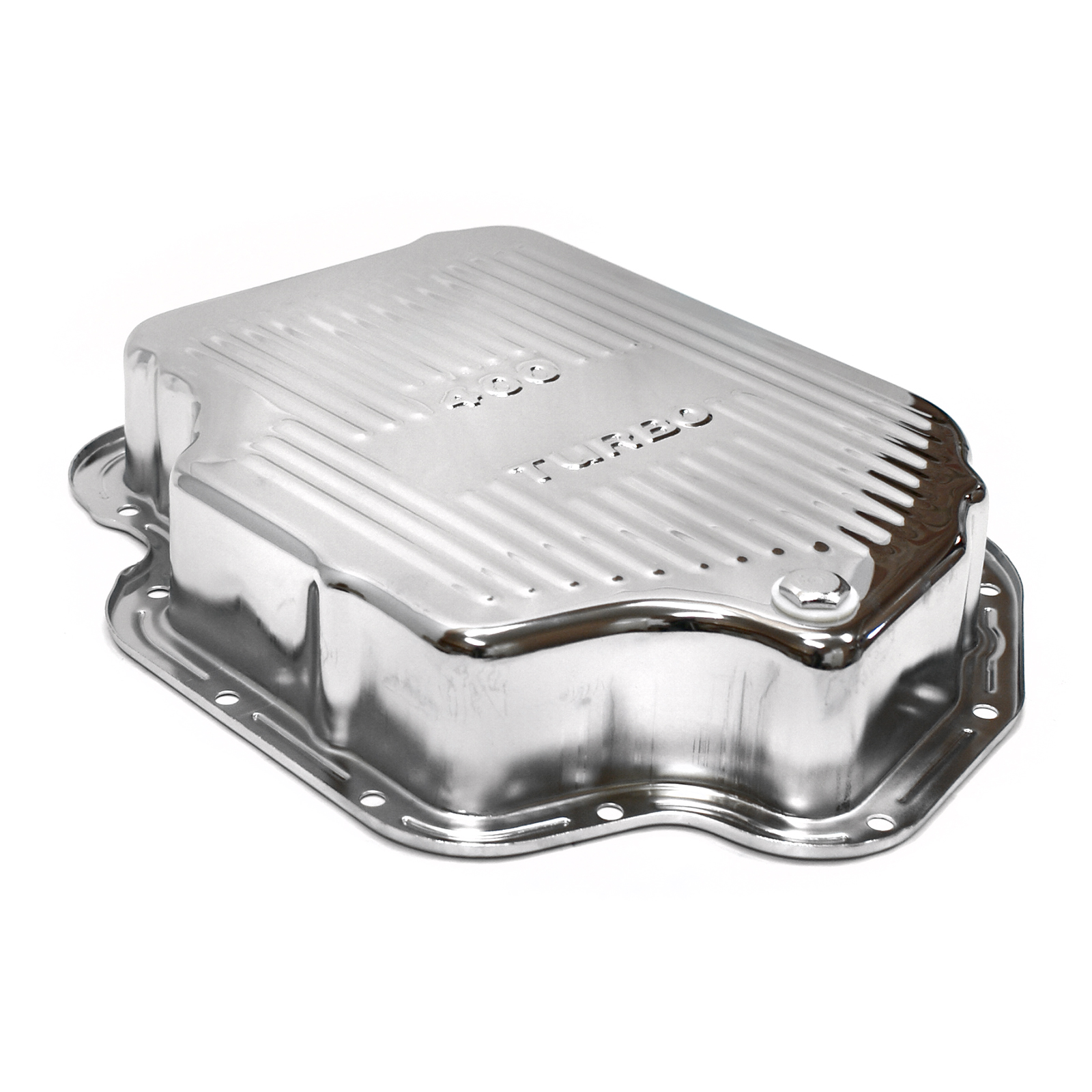 Turbo TH400 Deep Transmission Oil Pan Chrome