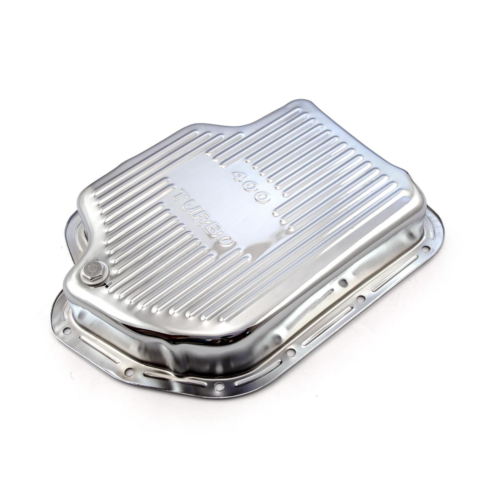 Turbo TH400 Deep Transmission Oil Pan Chrome
