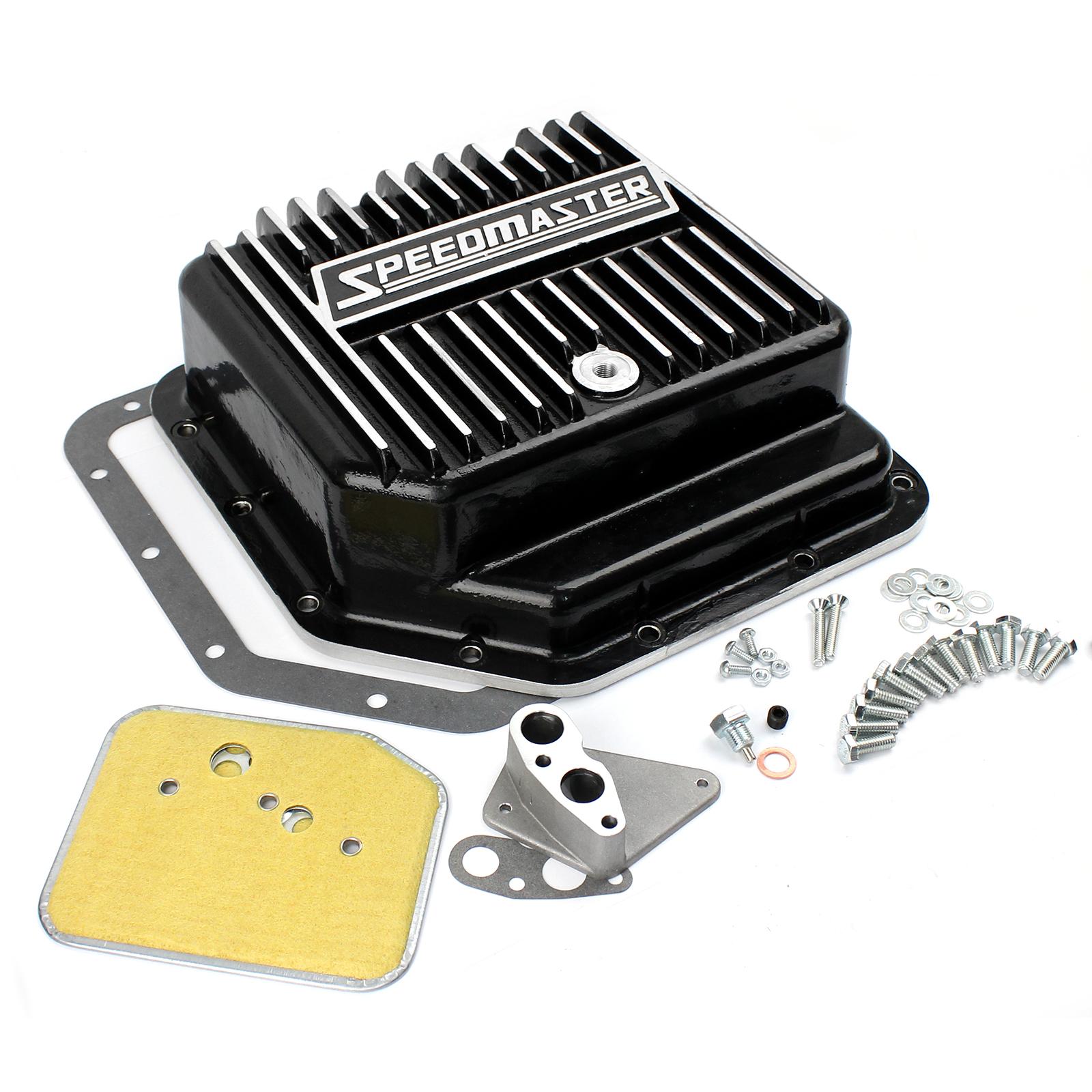 GM Turbo TH350 Black Extra Capacity Aluminum Transmission Oil Pan Kit