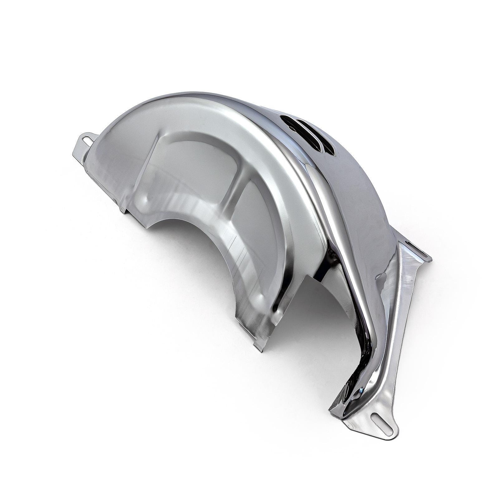 "PCE® PCE227.1003 Chevy Gm Turbo Th350 400 Flywheel Dust Cover Chrome (2 7/8"" Starter Slot)"