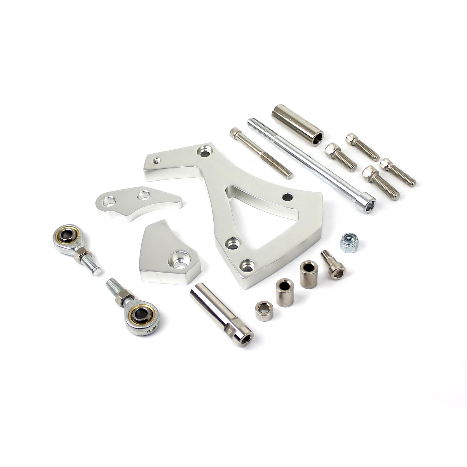 Ford 302 351C Cleveland Aluminum Alternator Bracket Kit Polished