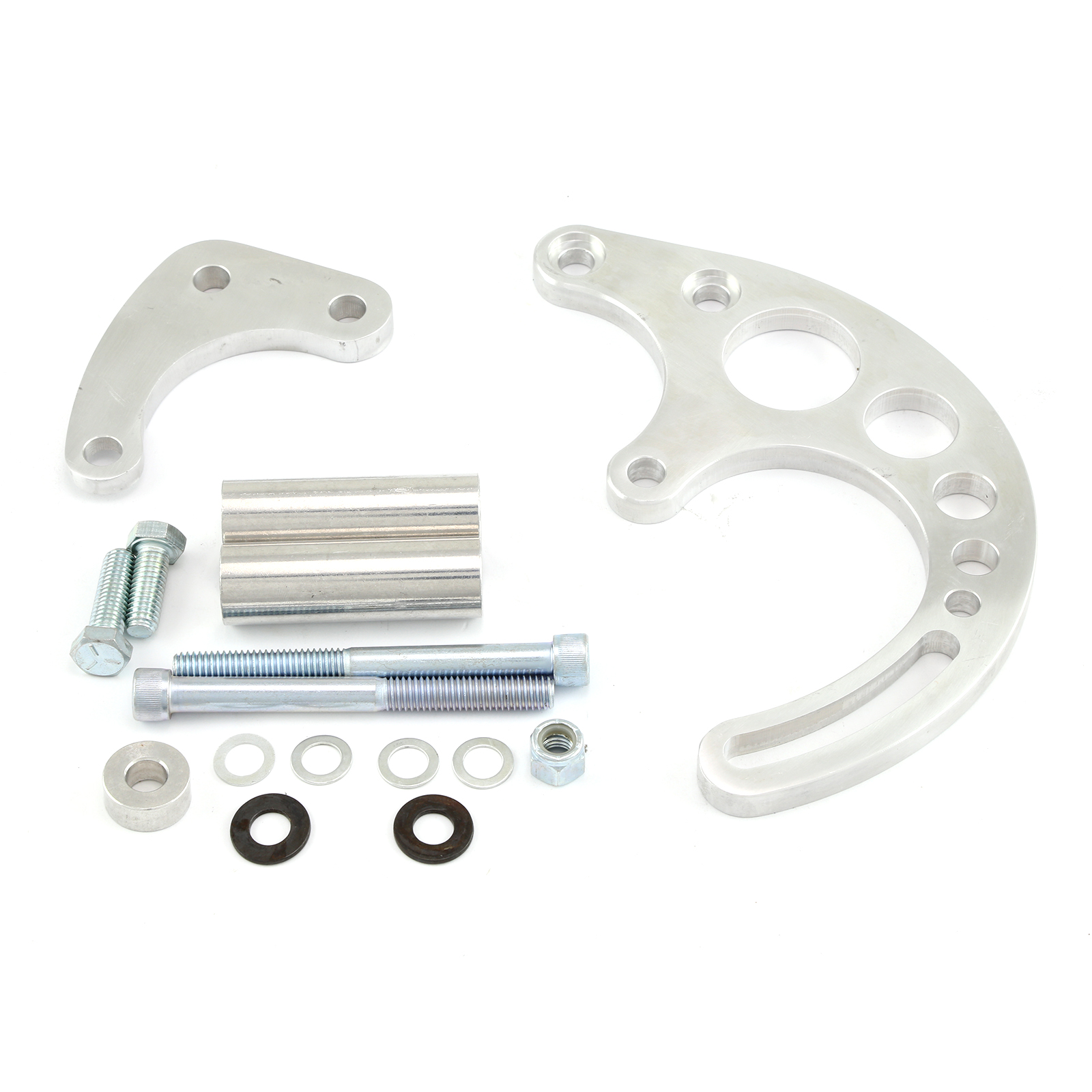 Chevy SBC 350 Billet Power Steering Bracket Low Mount Saginaw