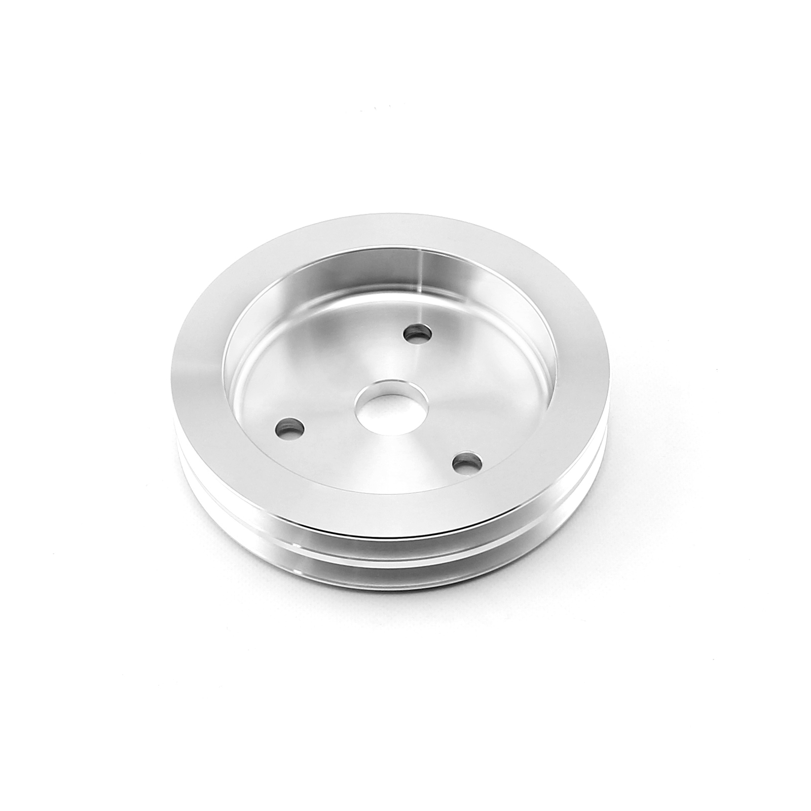 Chevy SBC 350 Billet Aluminum Short Water Pump Swp 2 Groove Crank Pulley