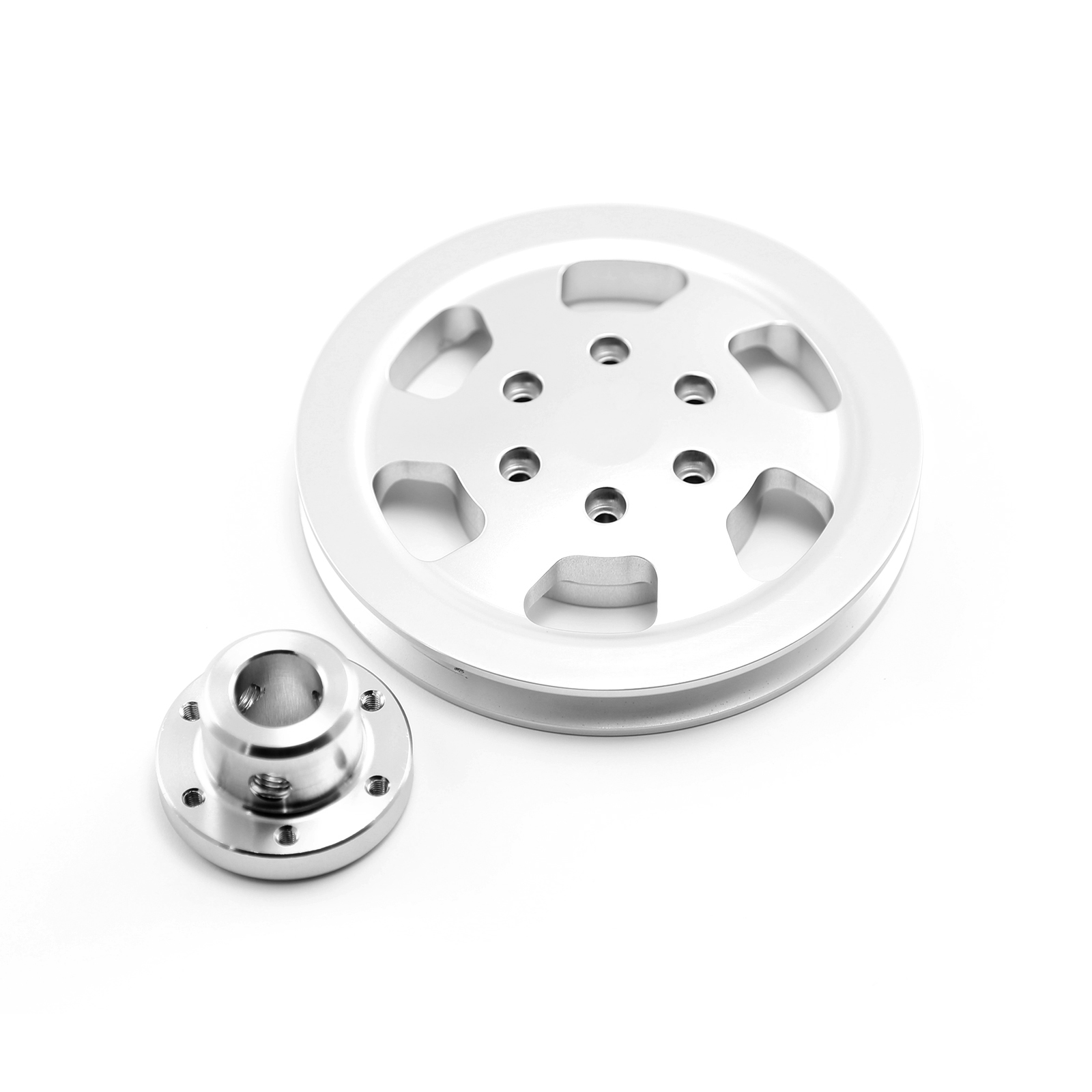 Chevy Gm Aluminum 1V Groove Power Steering Pulley