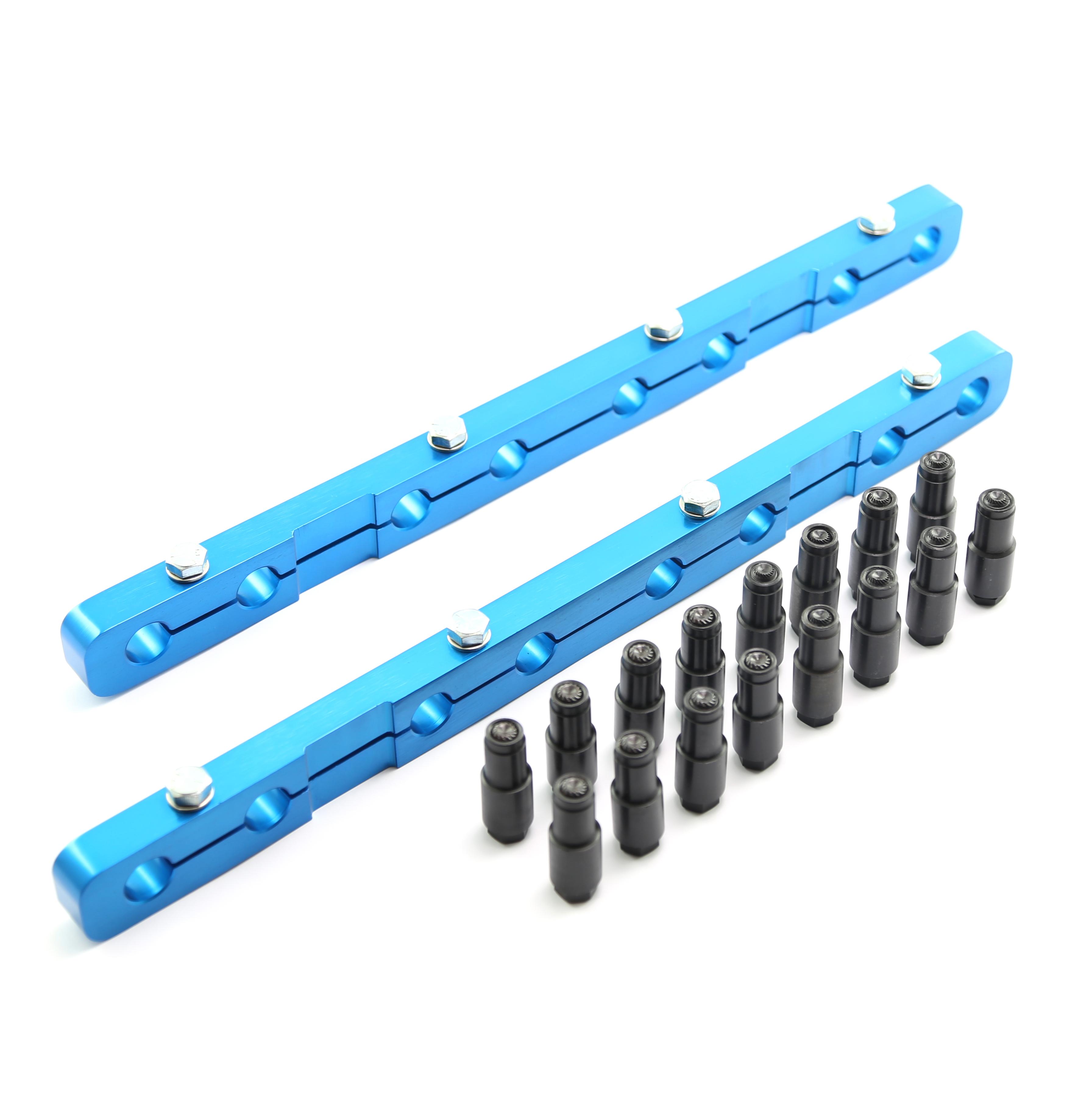 Oldsmobile 400 425 455 Rocker Stud Girdle Kit Blue With Posi Locks