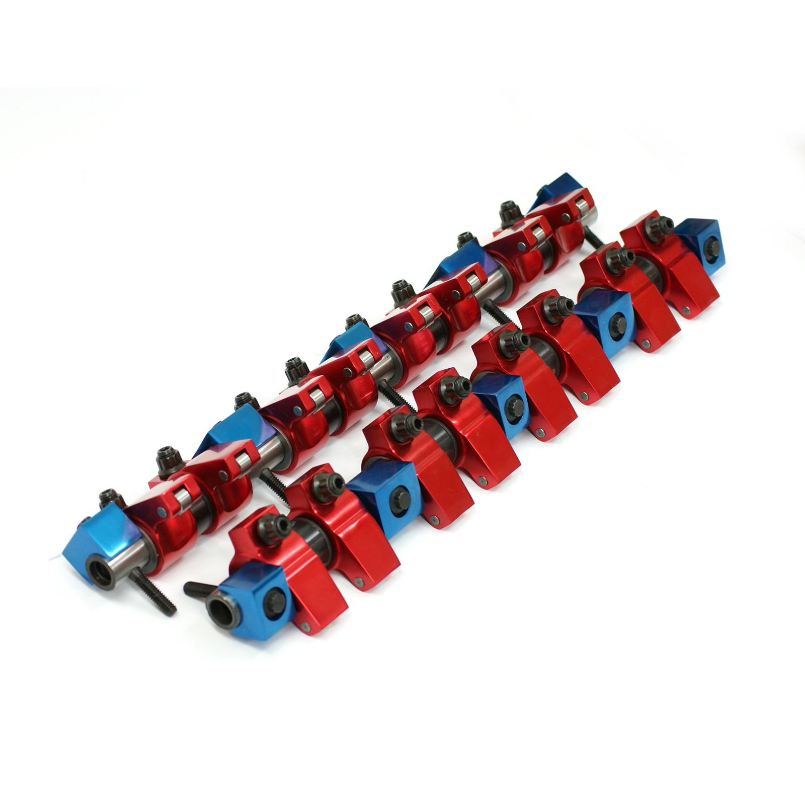 Mopar Chrysler BB 383 440 1.6 Aluminum Roller Rocker Arms & Shafts (Offset .450)