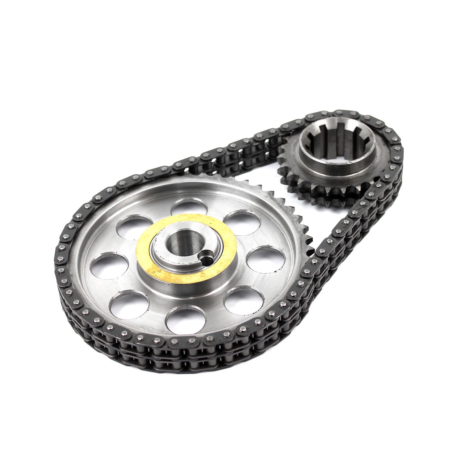 Ford 302 351C Cleveland SVO Double Roller 9 Keyway Billet Steel Timing Chain Kit