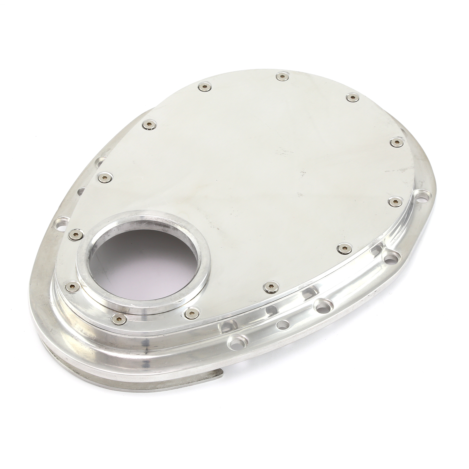 Chevy SBC 283 350 400 Polished Removable Front Aluminum Timing Chain Cover