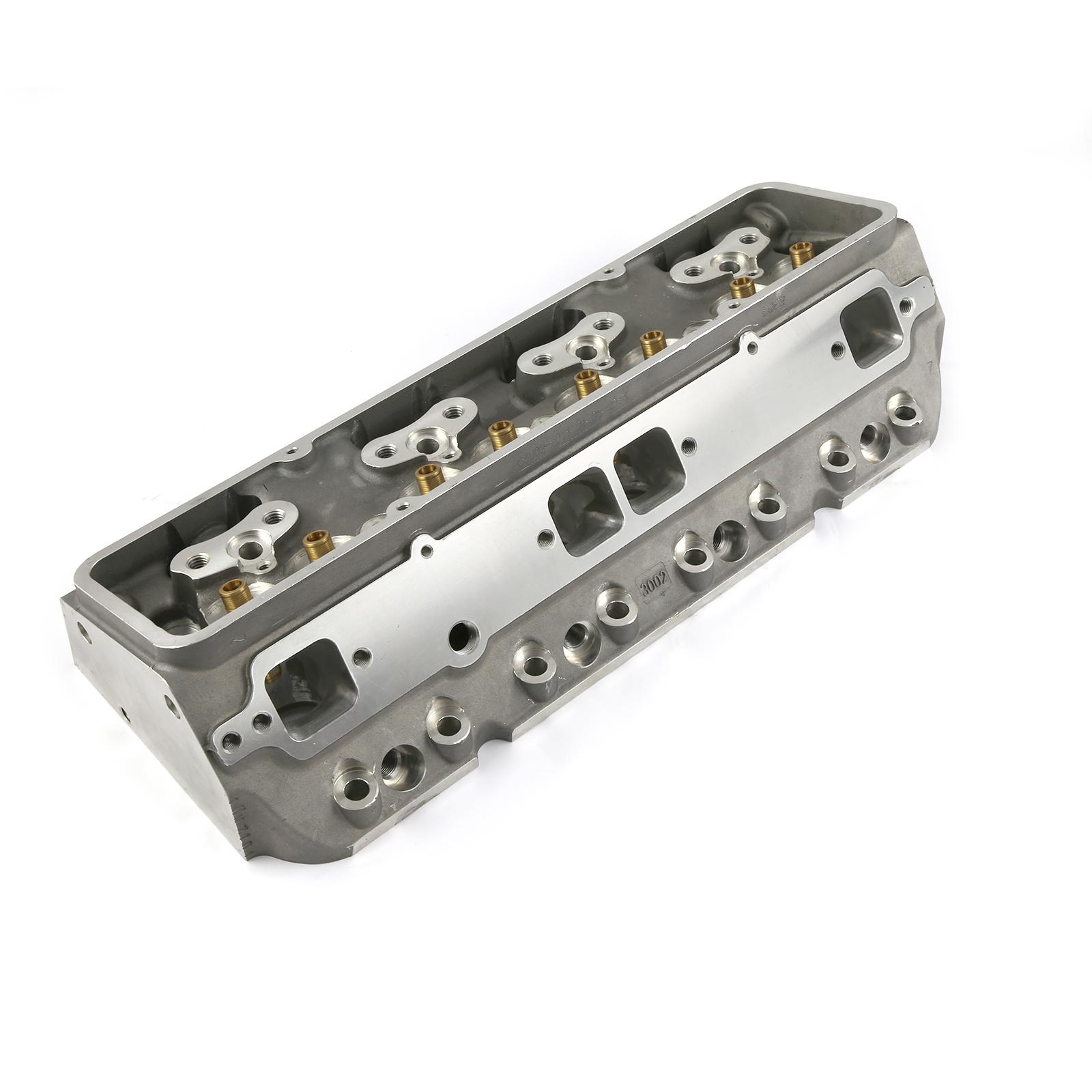 Chevy SBC 350 215cc 68cc Angle Plug Full CNC Bare Aluminum Cylinder Head