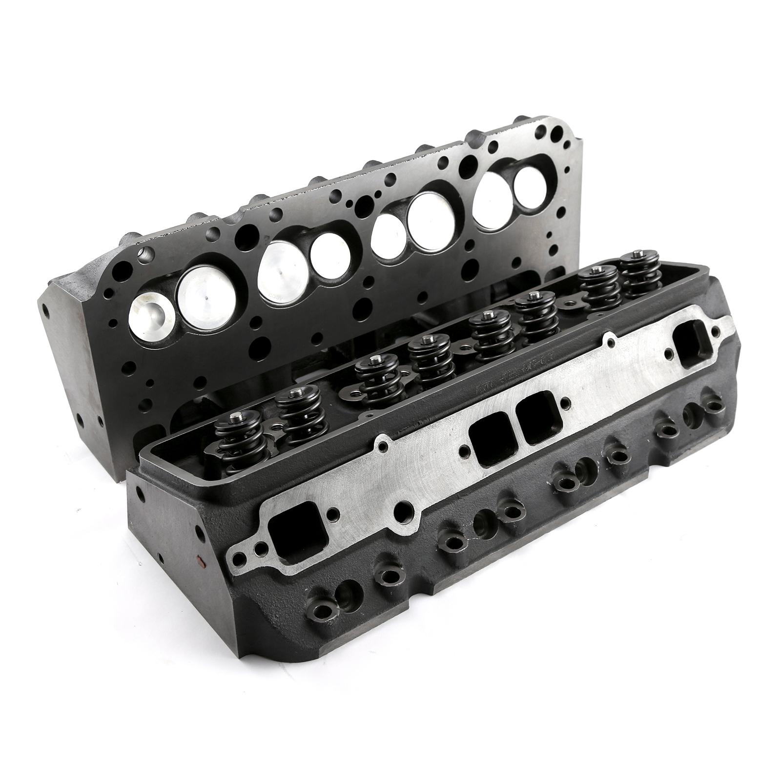 Speedmaster® PCE281.2158 Chevy SBC 350 175cc 59cc Straight Hydraulic Flat Assembled Cylinder Heads