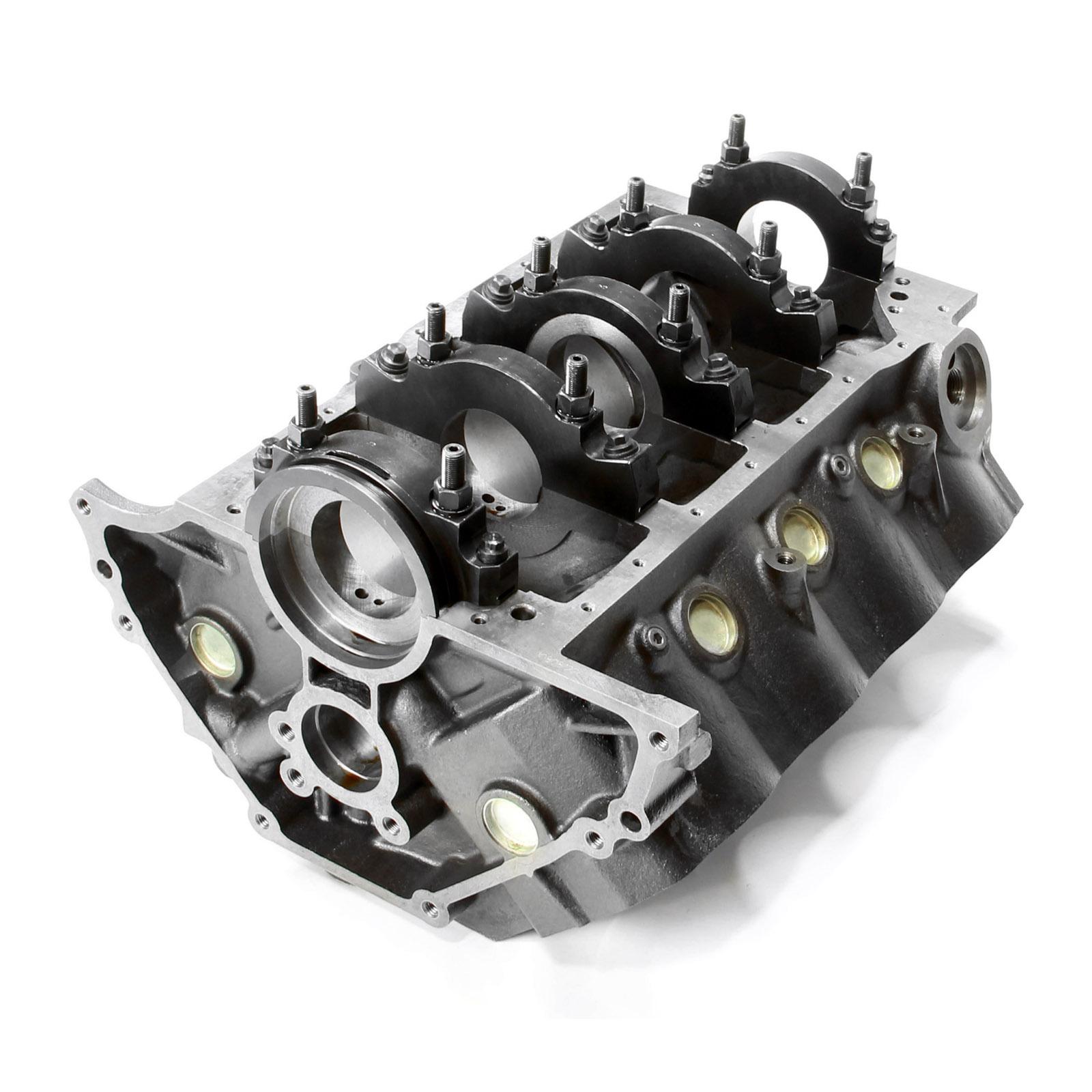 Chevy SBC 350 B-4.000 M-350 DH-9.025 4-Bolt Billet Main Iron Engine Block