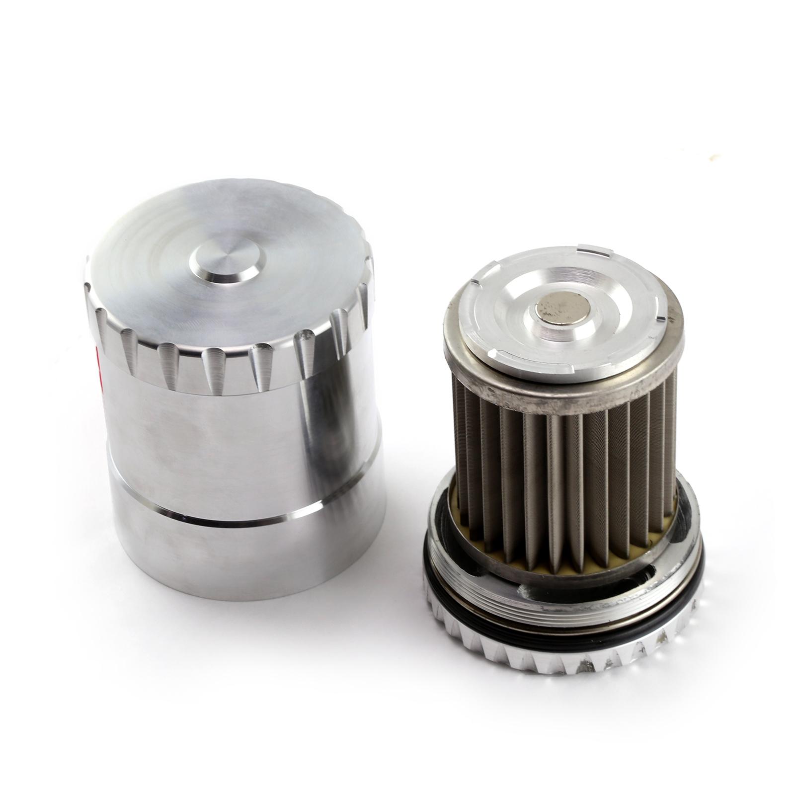 Ford Billet Aluminum Reusable Oil Filter w/Stainless Steel Element & Magnet