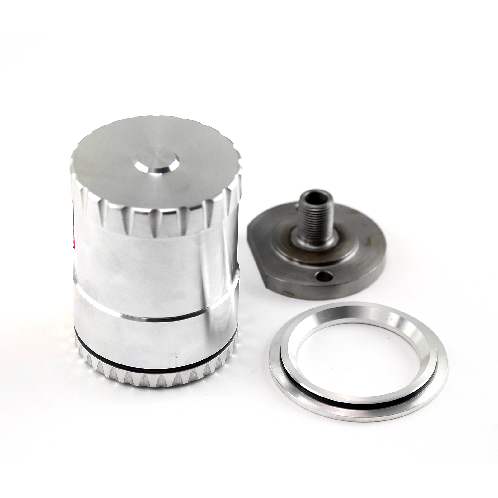GM Chevy Billet Aluminum Reusable Oil Filter w/Stainless Steel Element & Magnet