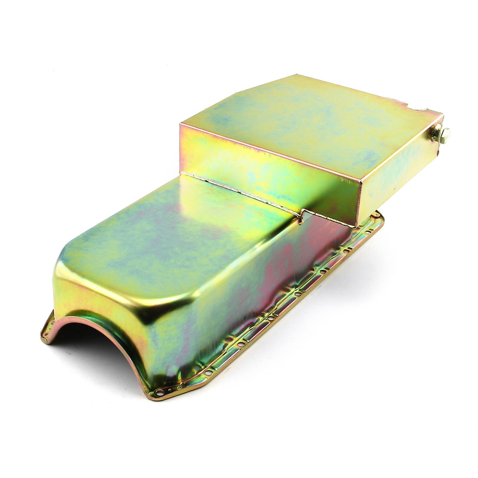 Chevy SBC 350 7Qt Circle Track LH Side 2Pcs Rms Zinc Oil Pan