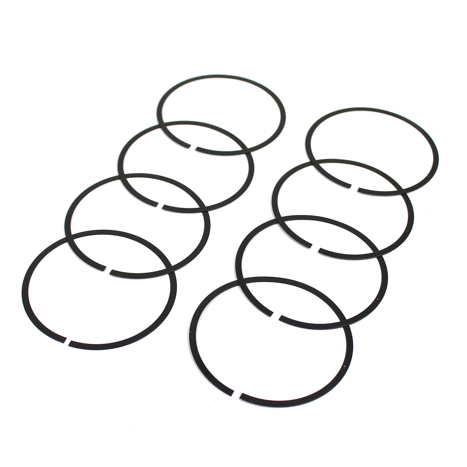 """4.600"""" Bore Piston Oil Ring Rail Spacer Support (0.030"""" Thick) Set of 8"""