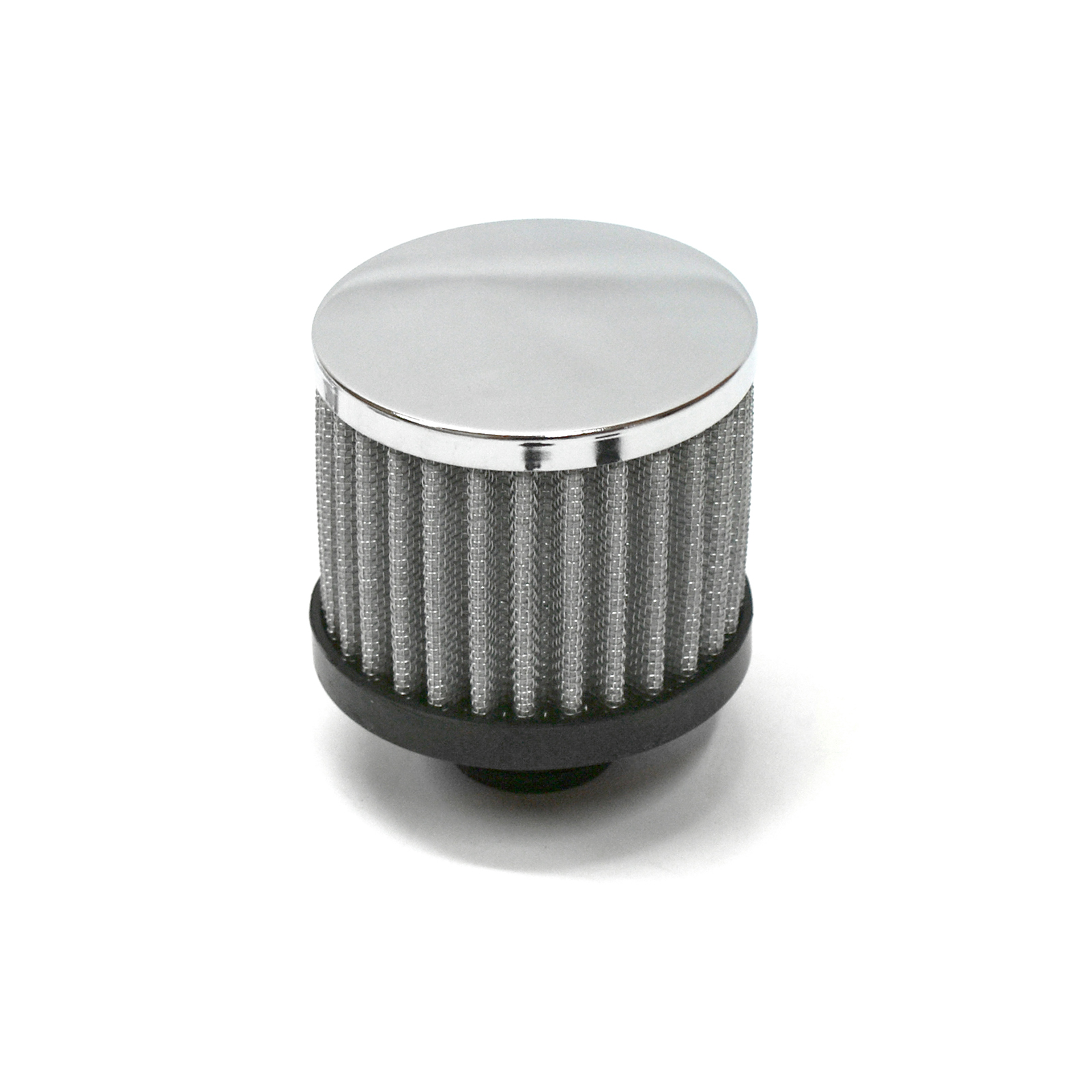 Chrome Valve Cover Open Filter Element Breather (Push In)