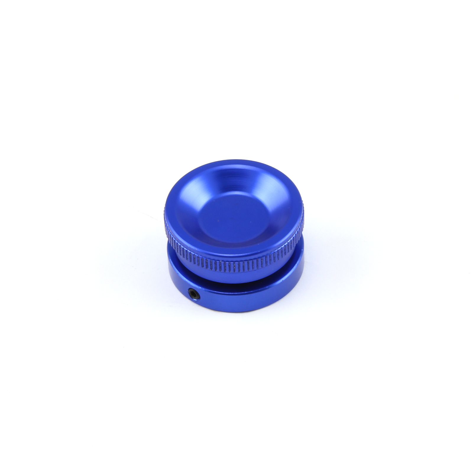 Billet Aluminum Screw-in Valve Cover Oil Filler Cap Kit - Blue Anodized