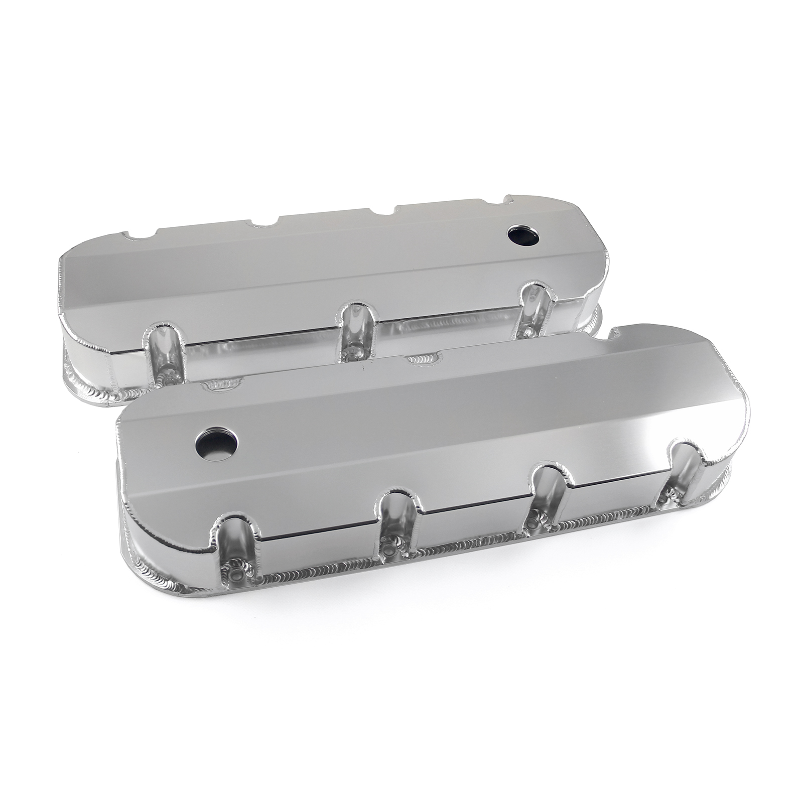 Chevy BBC 454 Anodized Fabricated Valve Covers - Tall w/ Hole