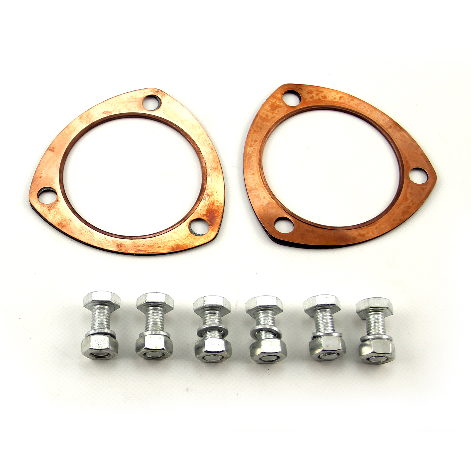 "Copper Collector Gasket Set with Hardware 3"" 3.0"""