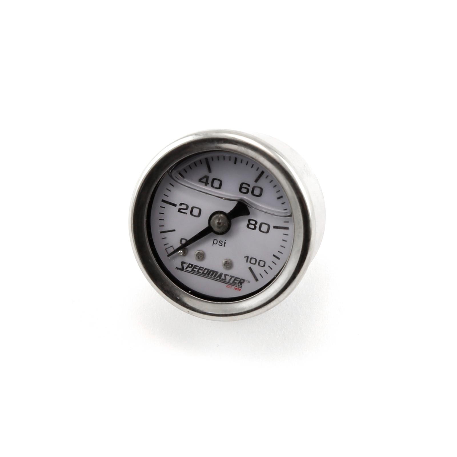 """1-1/2"""" 0-100psi Liquid Filled Fuel Pressure Gauge"""