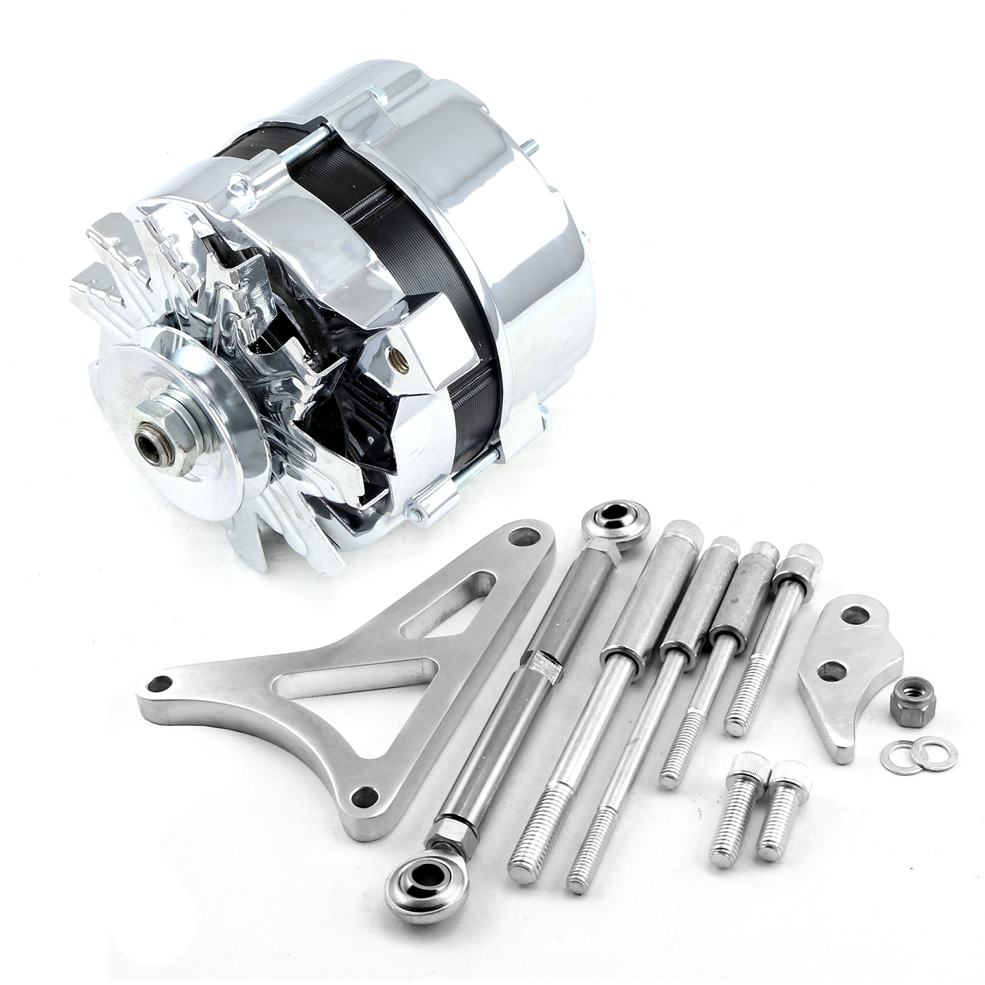 Ford SB 289 302 Windsor 100 Amp V-Belt High Output Alternator & Bracket Kit