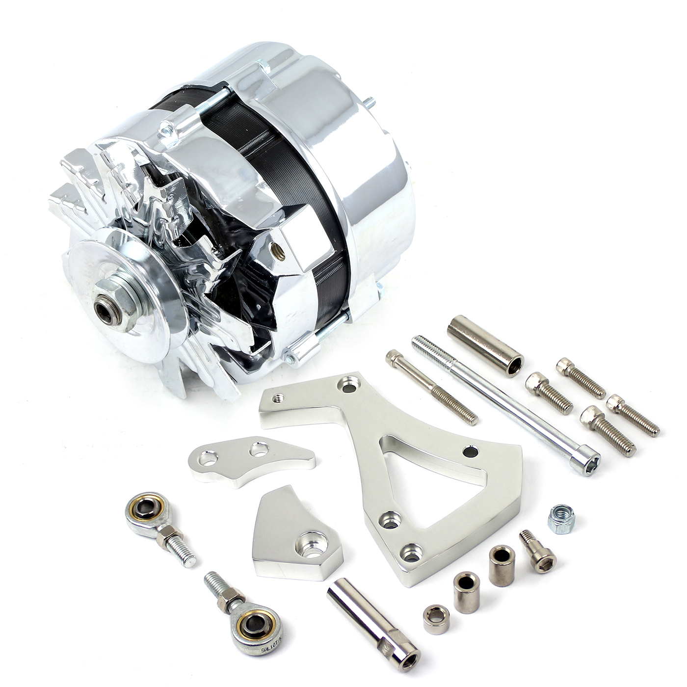 Ford 302 351C Cleveland 100 Amp V-Belt High Output Alternator & Bracket Kit