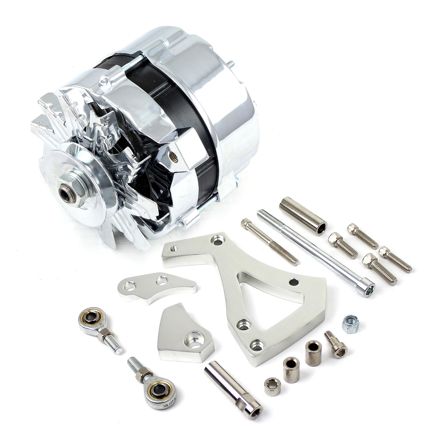 Ford 302 351C Cleveland 100 Amp V-Belt High Output Alternator & Bracket Kit