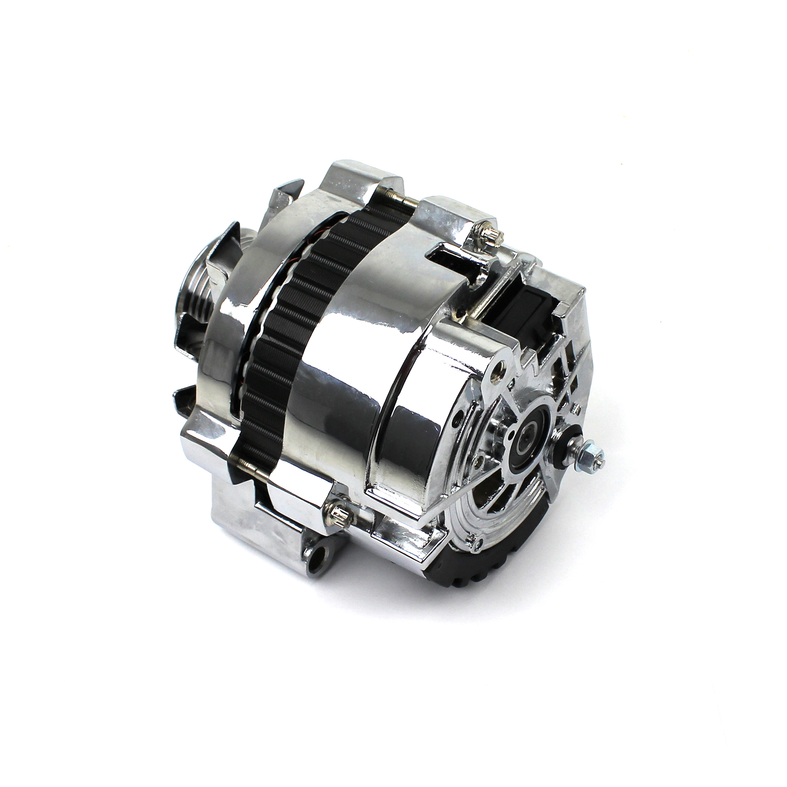 Chevy Gm Left Mount Serpentine 130 Amp High Output Chrome
