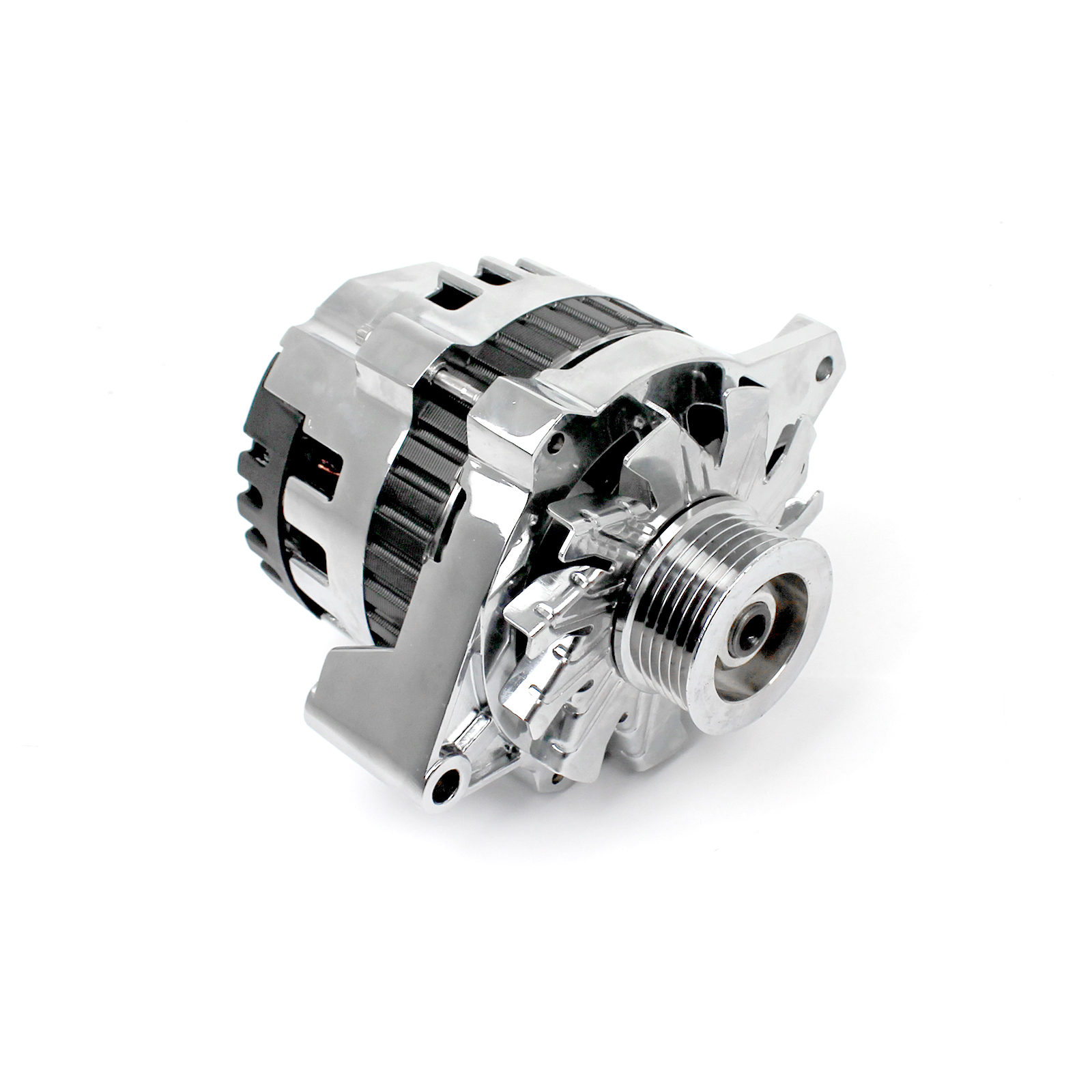 Universal Serpentine 130 Amp High Output Chrome Alternator