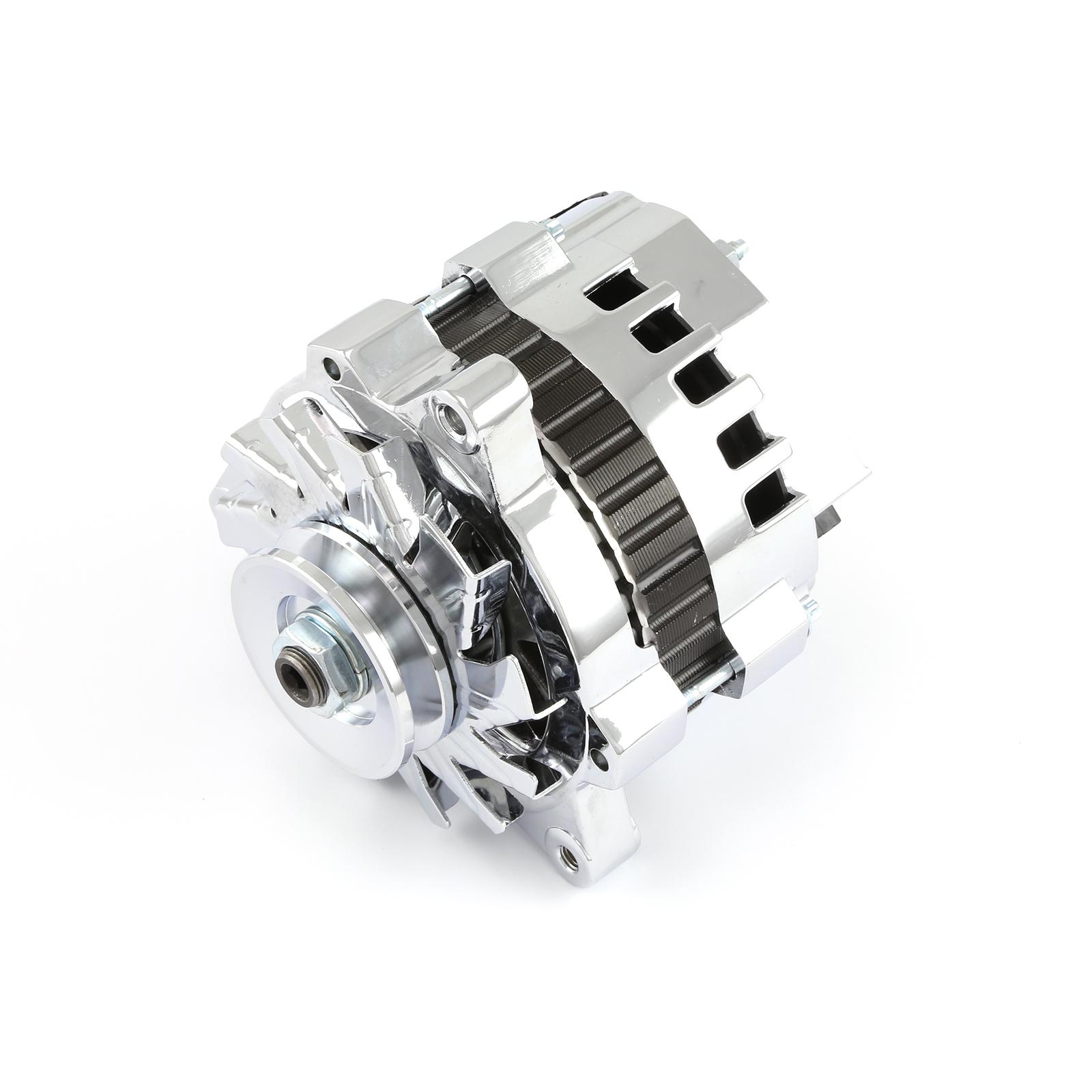 Chevy Buick Olds 7933-11 90Amp High Output V-Belt Chrome Alternator