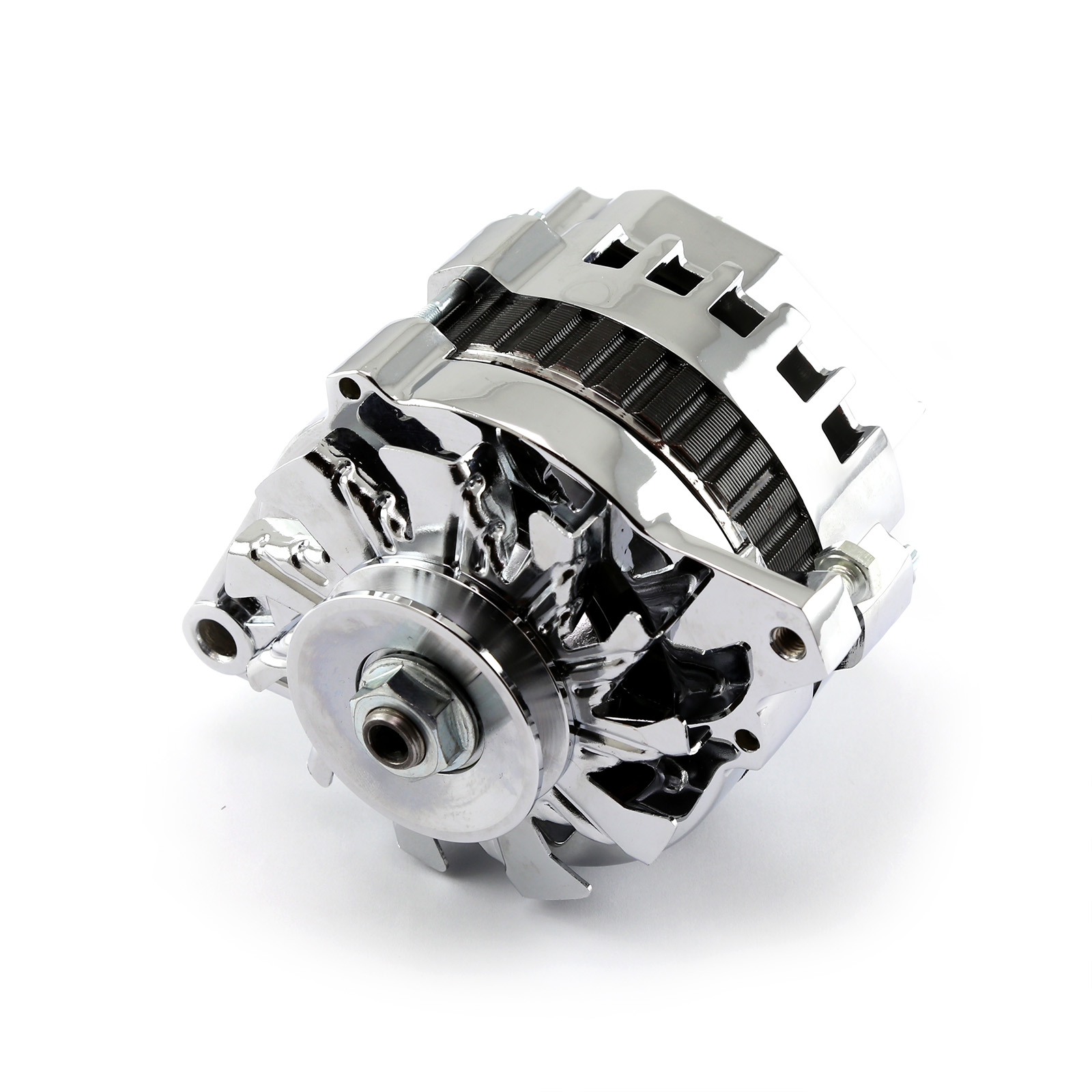 Universal V-Belt 130 Amp High Output Chrome Alternator