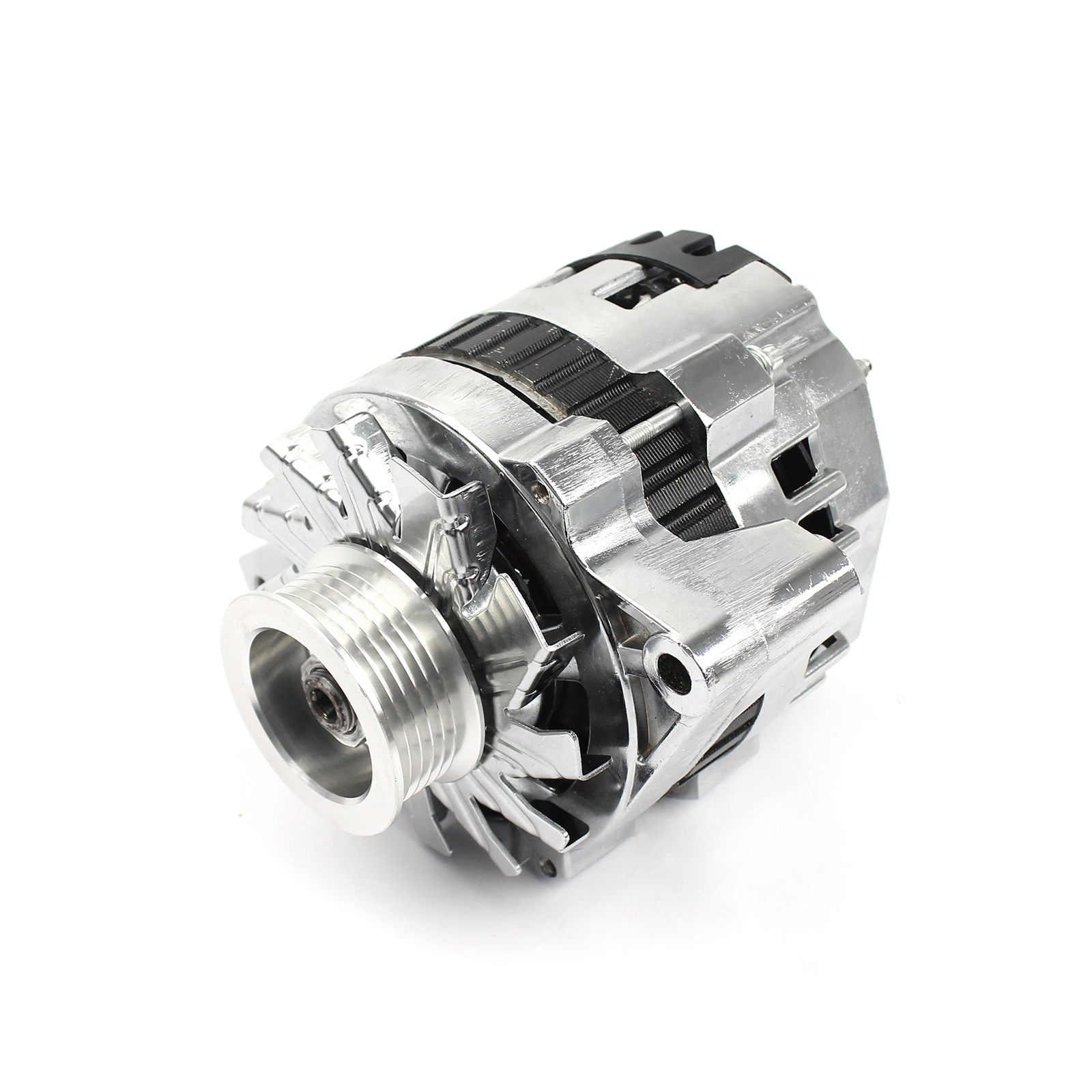 Universal Serpentine 130 Amp High Output Chrome Alternator