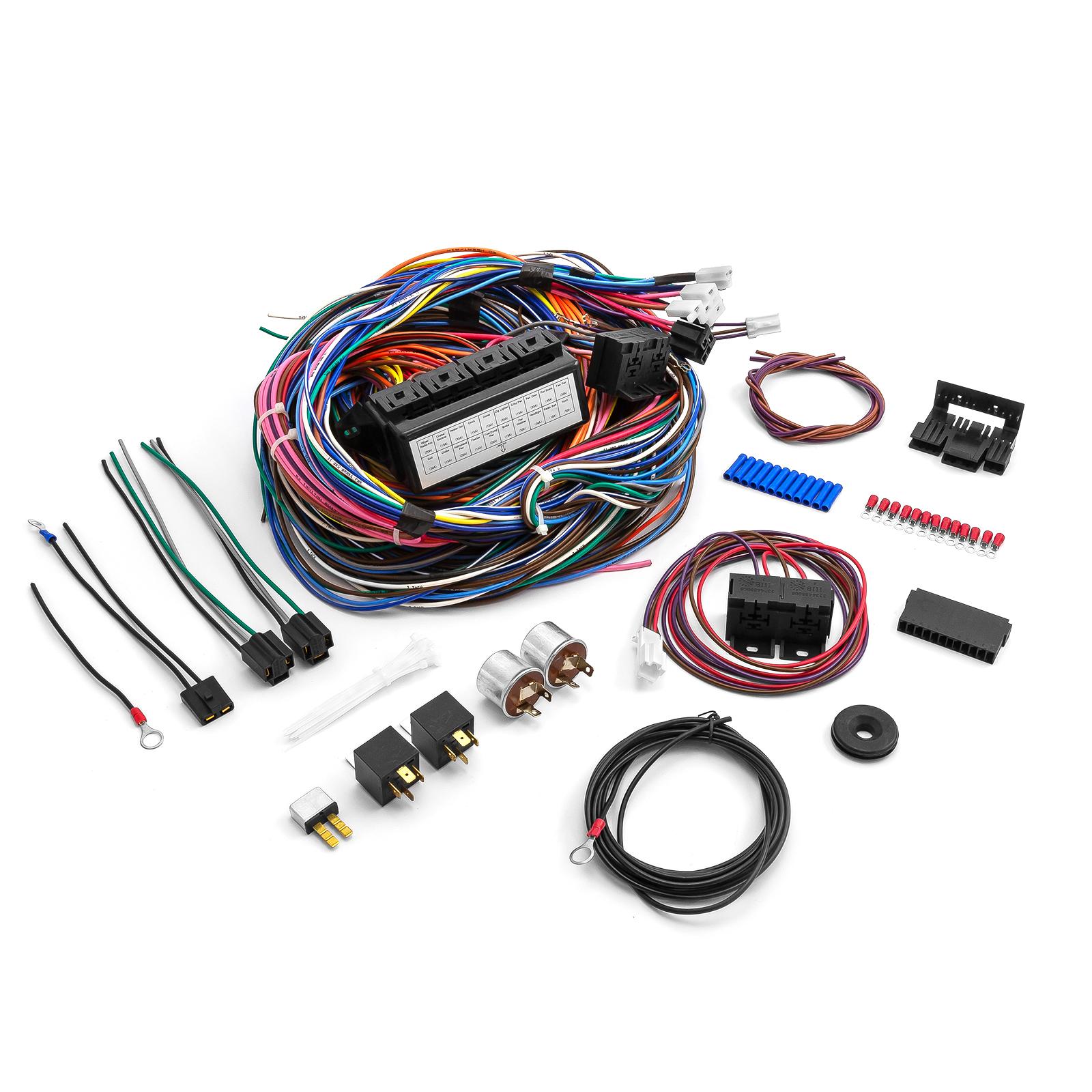 Universal 20 Circuit Wiring Harness Kit Street Rod Hot Rod Race Car