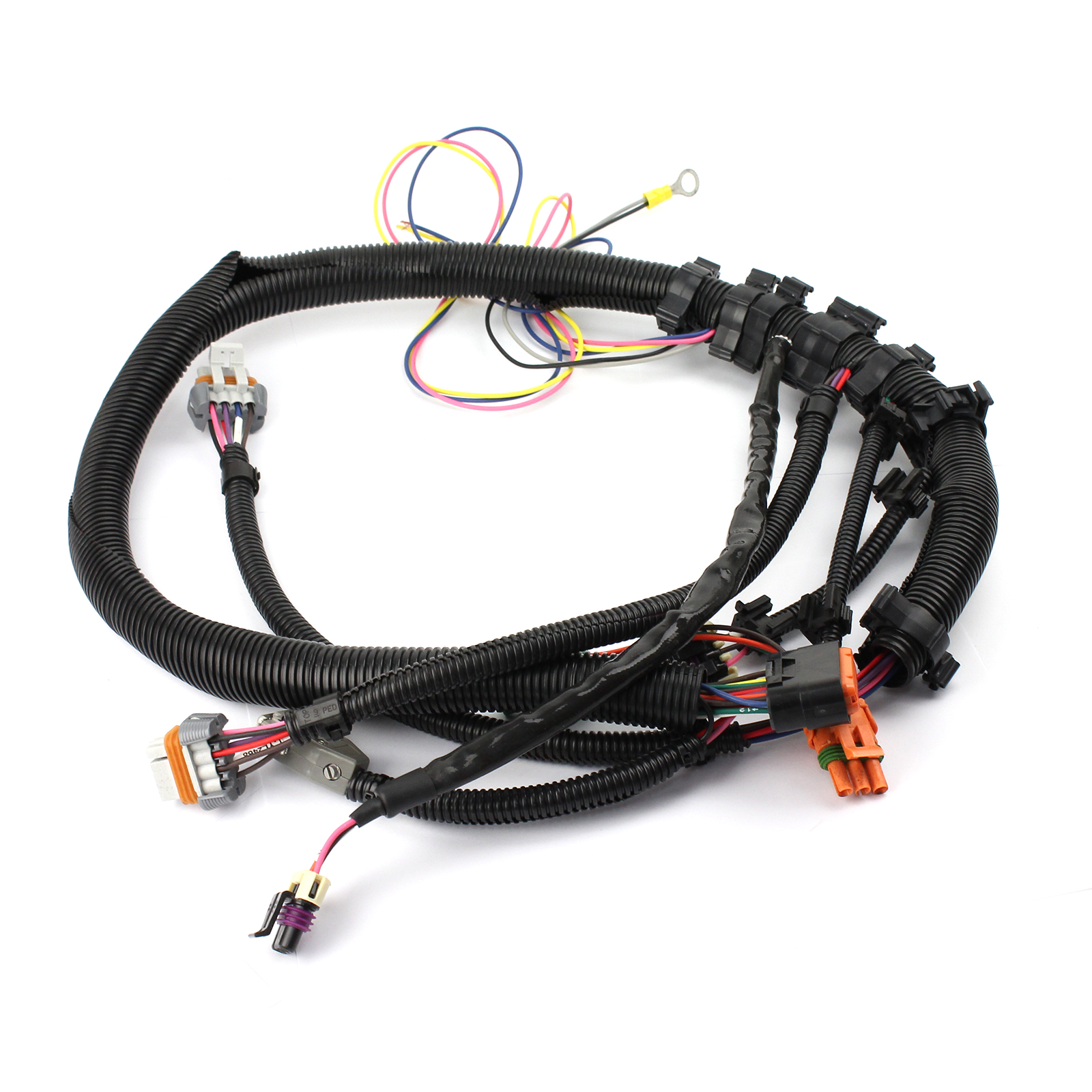 Gm LS1 LS6 24-Tooth Black Crank Sensor Wiring Harness Intake Manifold Mount