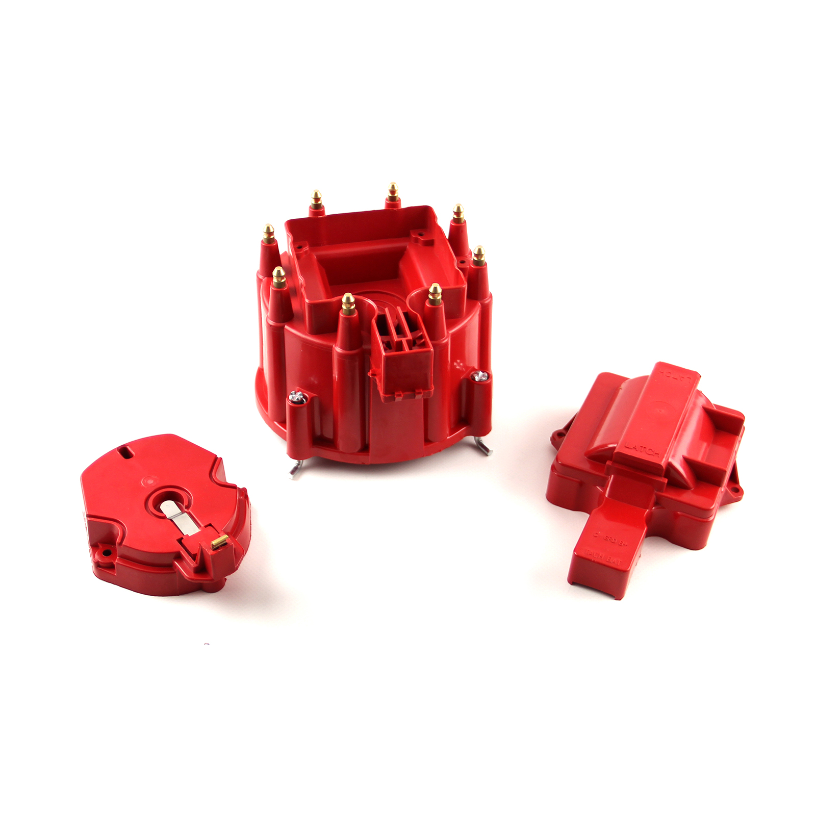 HEI Distributor Cap and Coil Cover - Red