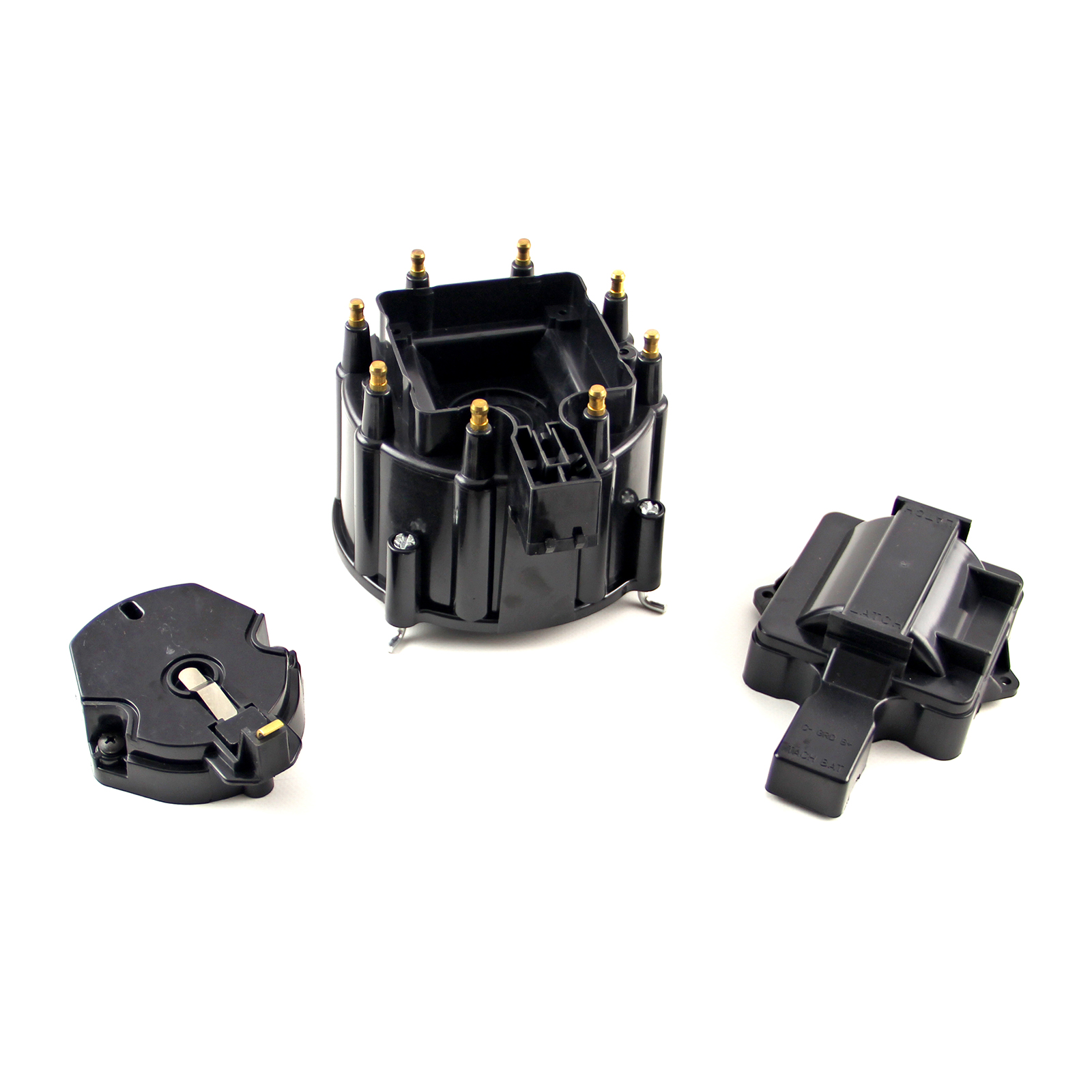 HEI Distributor Cap and Coil Cover - Black