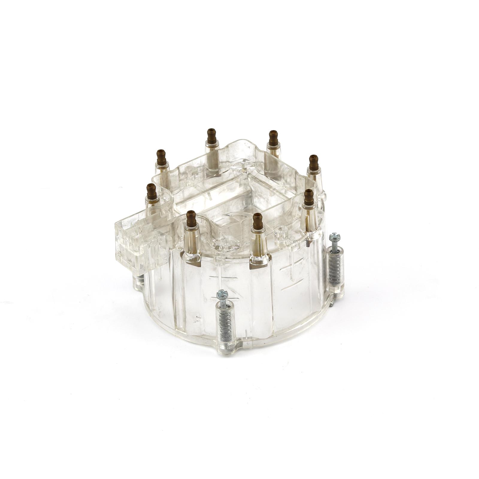 HEI Replacement Distributor Cap Brass Terminals - Clear