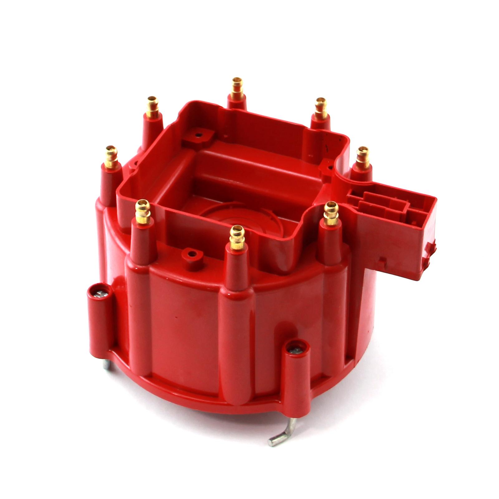 HEI Replacement Distributor Cap Brass Terminals - Red