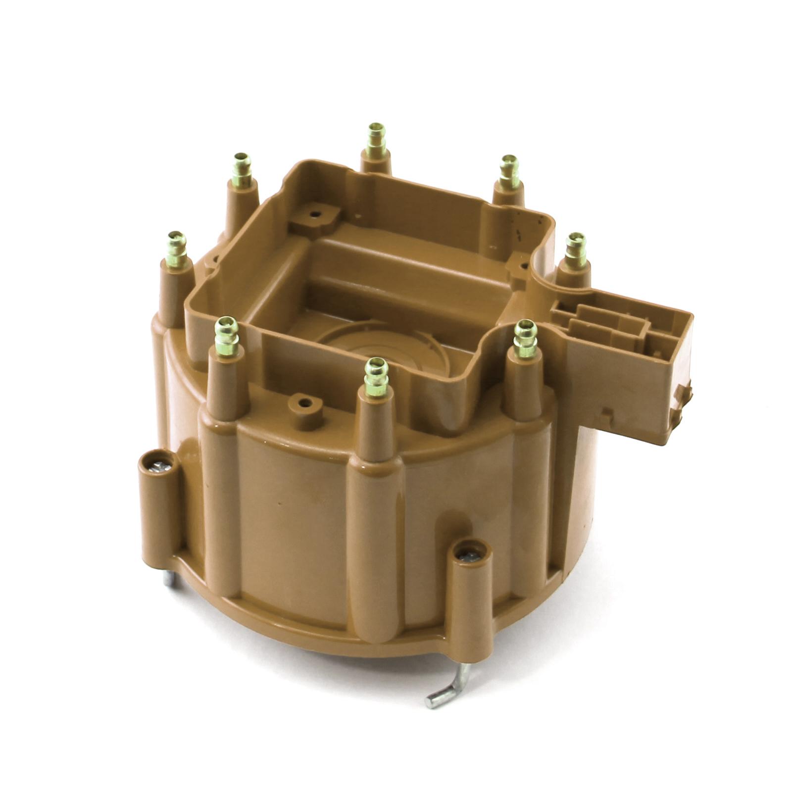 HEI Replacement Distributor Cap Brass Terminals - Brown