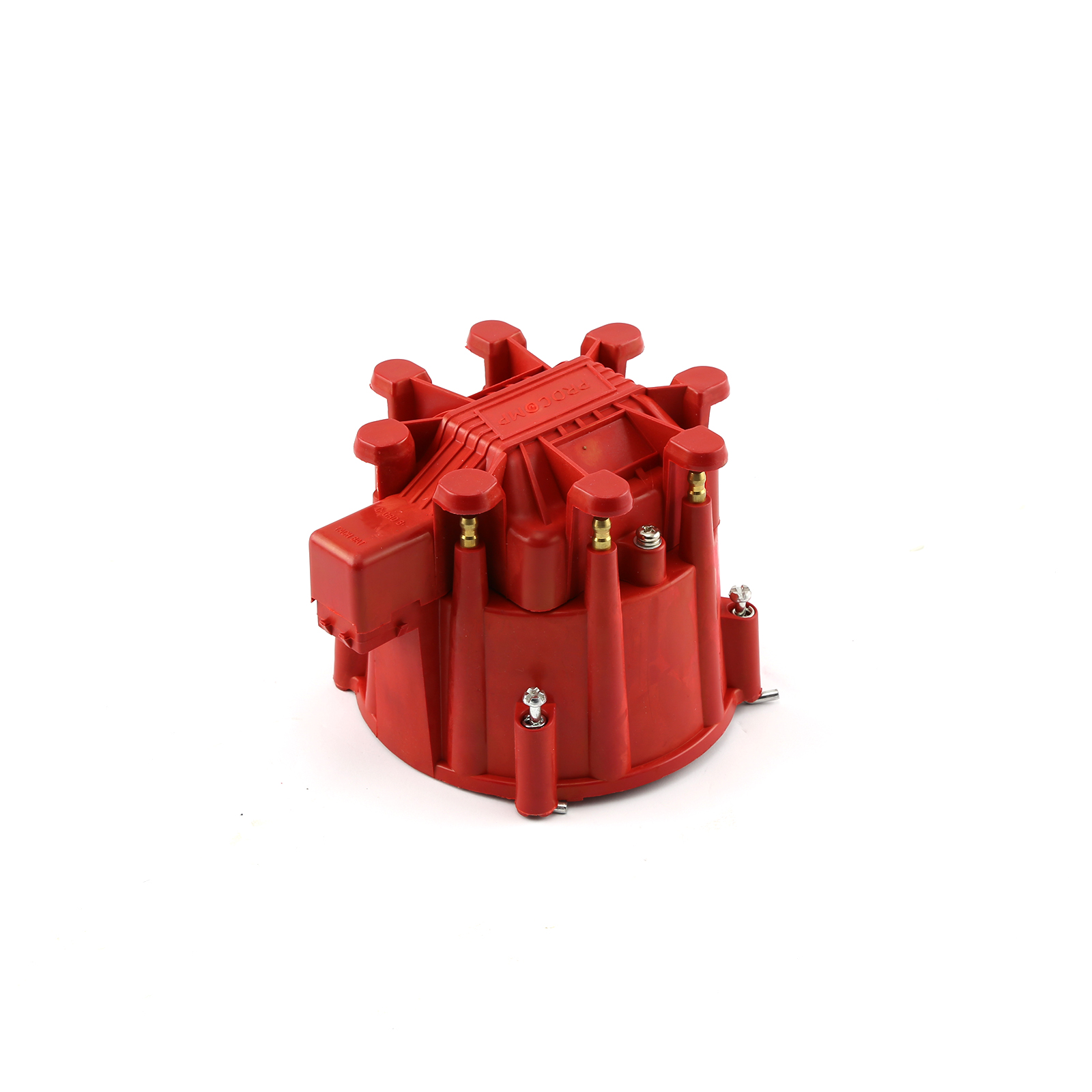 Thunder Series HEI Replacement Distributor Cap Brass Terminals - Red